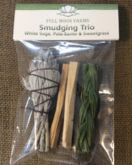 White Sage, Palo Santo, Sweetgrass