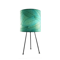 Cocoa Leaf Tripod Drum Lamp, Sea Blue