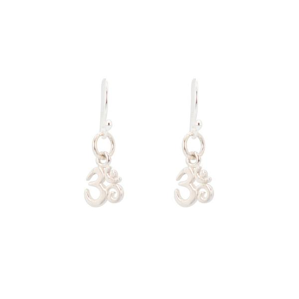 Petite Aum / Om Earrings in Sterling Silver