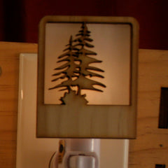 Unique Wooden Nightlights - Pine Tree