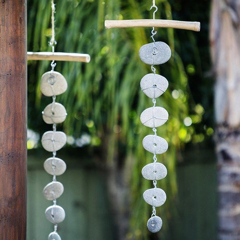 Beach Pebble & Driftwood Garlands - Om Gallery