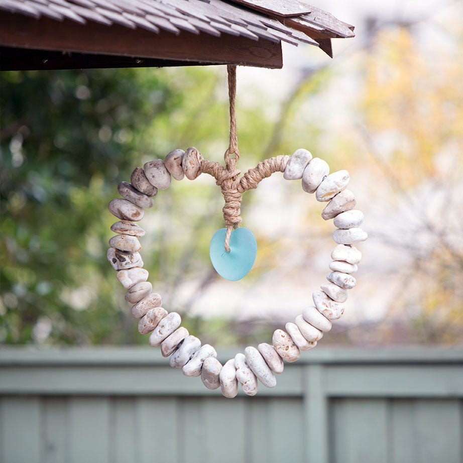 Heart Wreath with Glass Heart