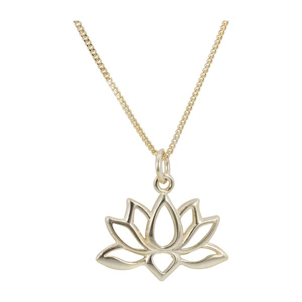 Gold Plate Lotus Blossom Necklace Om Gallery