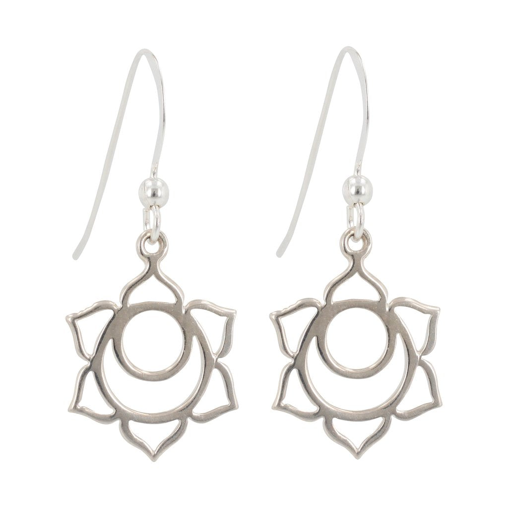 Silver Chakra Earrings - Sacral