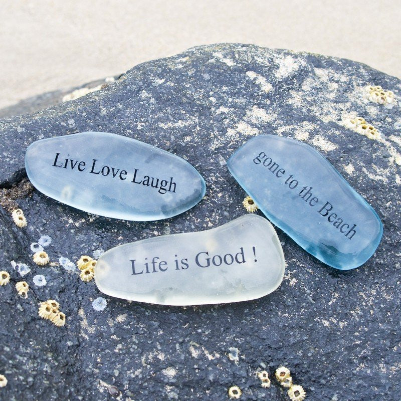 Mini Sea Glass Stones (Phrase)
