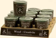 Feng-Shui Votives - Wood
