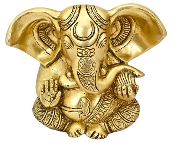 Ganesh Brass Statue - Medium