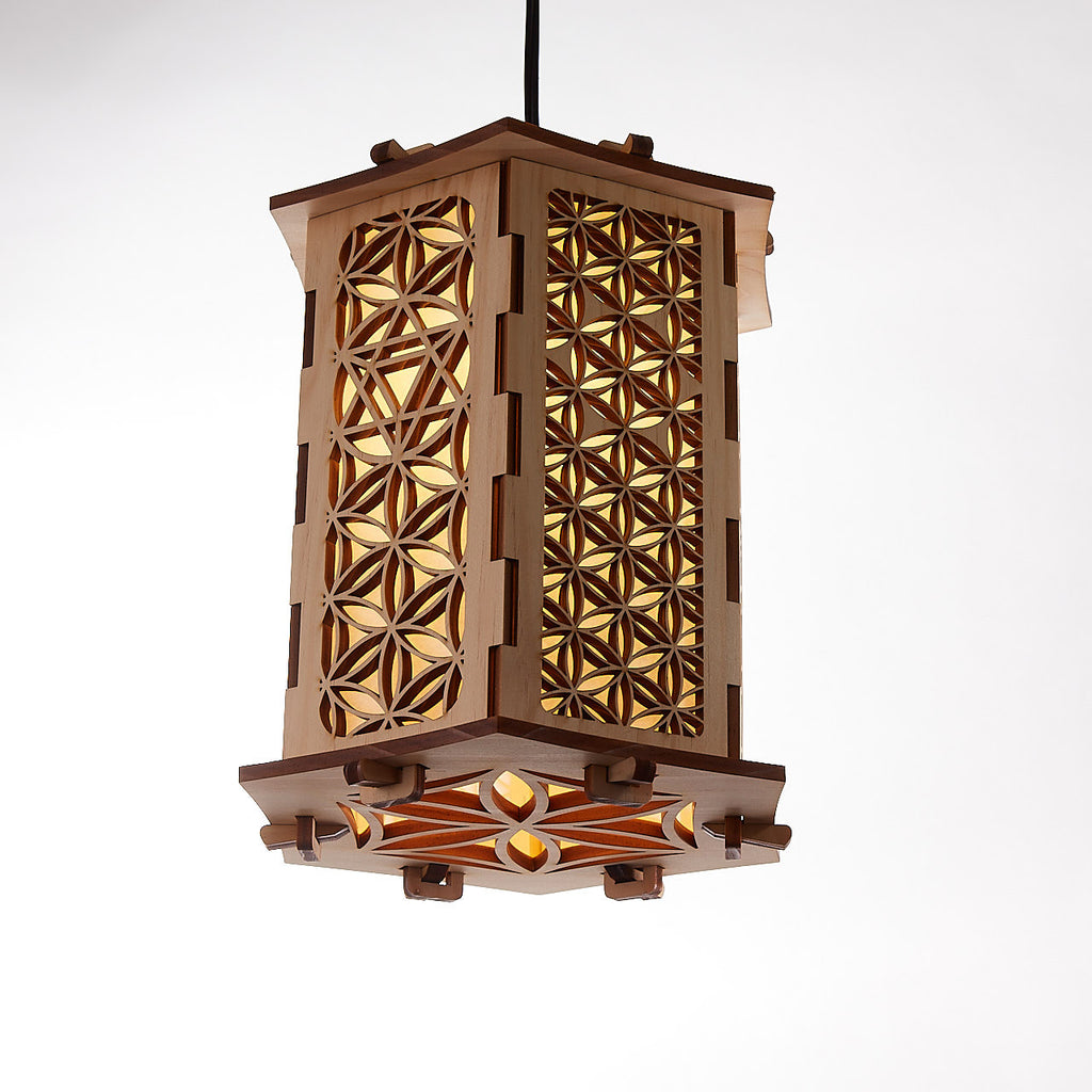 Flower of Life Hanging Lamp (Tall)