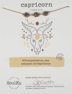 All Signs Zodiac Necklaces, Capricorn (Tiger Eye)