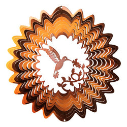 Hummingbird Wind Spinner, Copper / Small