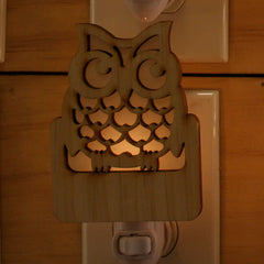 Unique Wooden Nightlights - Owl