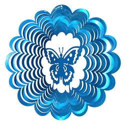 Butterfly Wind Spinner, Blue / Small