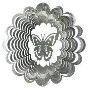 Butterfly Wind Spinner, Silver / Small