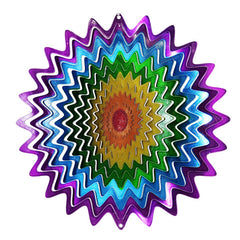 Rainbow Starburst Wind Spinner