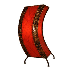 Cocoa Leaf C-Shape Table Lamp, Red