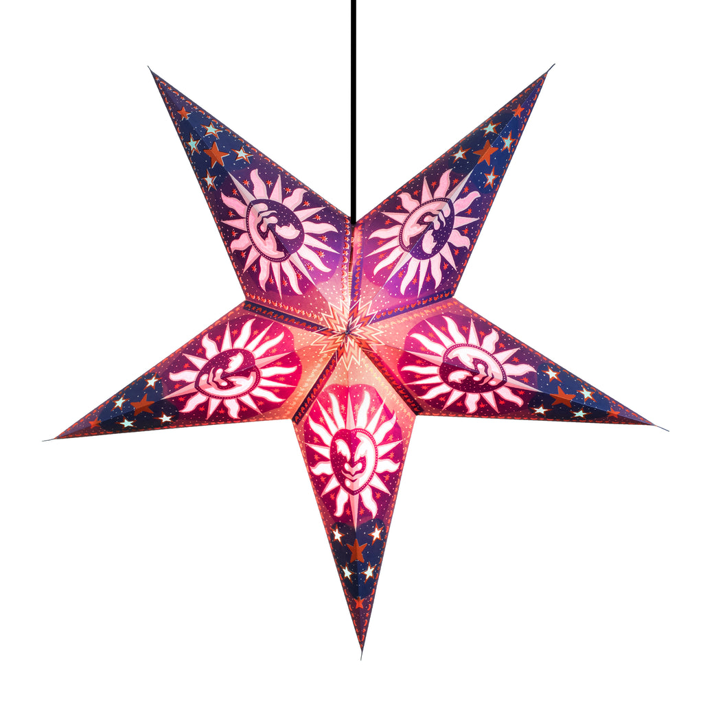 Om Paper Star Lantern - Purple Heaven