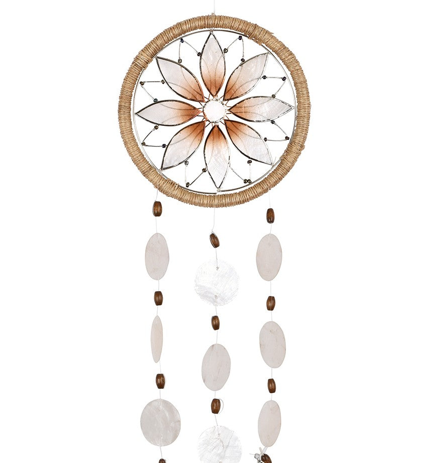 Capiz Shell Dreamcatcher - Flower
