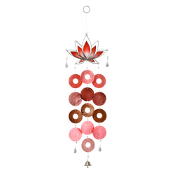 Capiz Lotus Chimes, Red