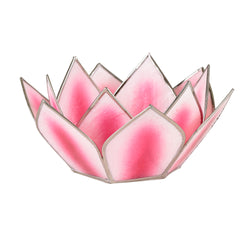 Mini Dahlia Lotus Tea Light Holder, Pink