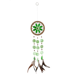 Capiz Shell Chakra Dreamcatchers - Flower, Heart Green