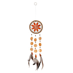 Capiz Shell Chakra Dreamcatchers - Flower, Sacrum Orange
