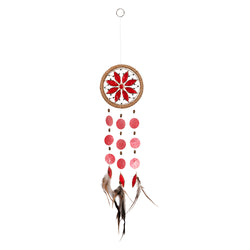 Capiz Shell Chakra Dreamcatchers - Flower, Root Red