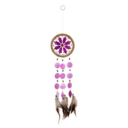 Capiz Shell Chakra Dreamcatchers - Flower, Crown Violet