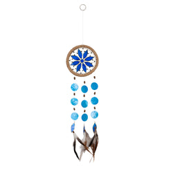 Capiz Shell Chakra Dreamcatchers - Flower, Third Eye Indigo