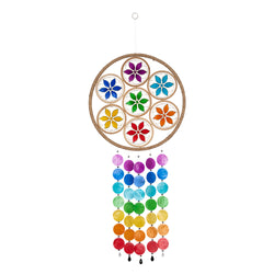 Capiz Shell Chakra Dreamcatcher - Rainbow XL