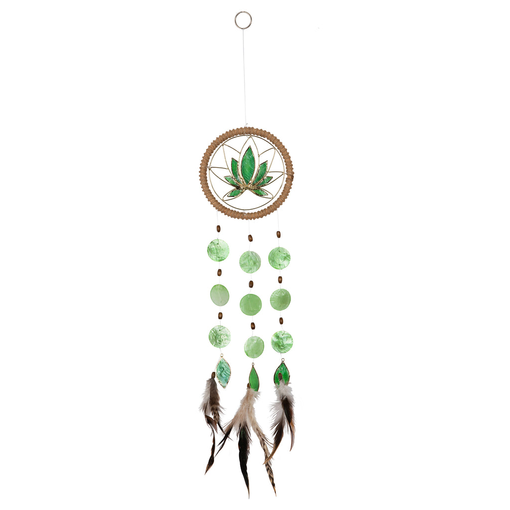 Capiz Shell Chakra Dreamcatchers - Lotus