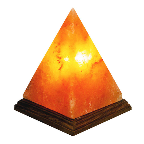 Crystal Salt Lamp - Pryamid - Om Gallery