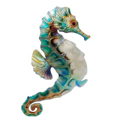 Wall Seahorse Blue and Pearl