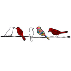 Birds on a Wire Wall Art, Red