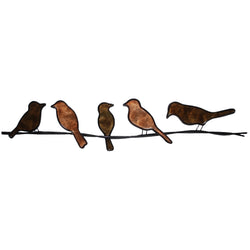 Birds on a Wire Wall Art, Brown