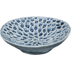 Blue Coral Ceramic Dish