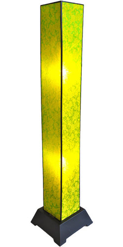 Tana Silk Floor Lamp, Lime
