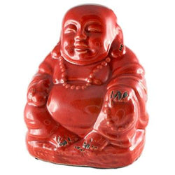 Crackle Buddha, Orange/Red
