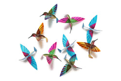 Hummingbird Capiz Garlands - Multi