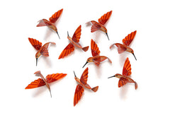 Hummingbird Capiz Garlands - Orange