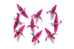 Hummingbird Capiz Garlands - Pink