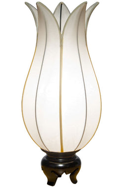 Flowering Lotus Table Lamp, White