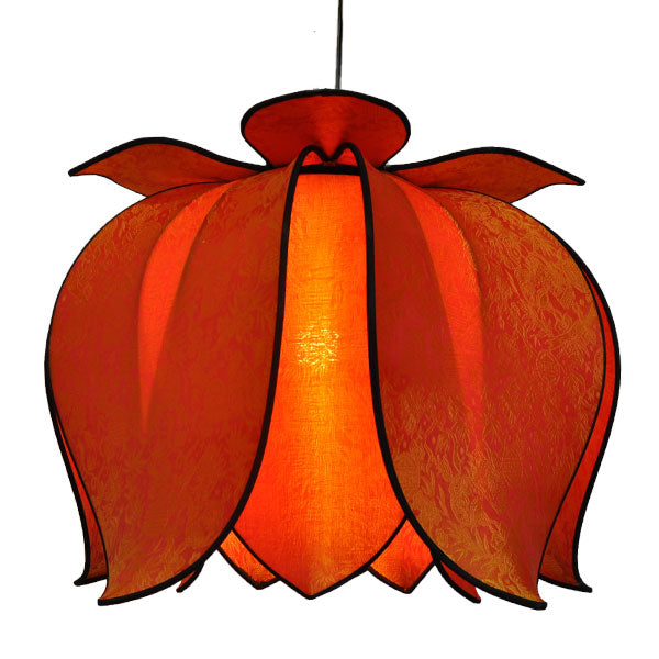 Hanging Blooming Lotus Lamp 2 Ft - Special Order Only