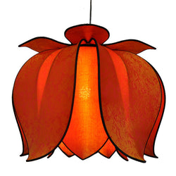 Hanging Blooming Lotus Lamp 2 Ft - Special Order Only, Citrus / Hardwire Kit