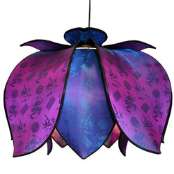 Hanging Blooming Lotus Lamp 2 Ft - Special Order Only, Jewel / Hardwire Kit