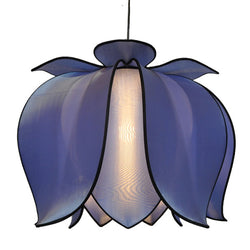 Hanging Blooming Lotus Lamp 2 Ft - Special Order Only, Sky / Hardwire Kit