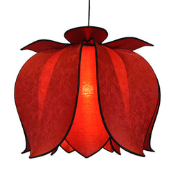 Hanging Blooming Lotus Lamp 2 Ft - Special Order Only, Solar / Hardwire Kit