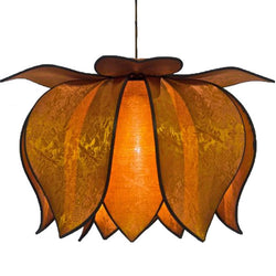 Hanging Blooming Lotus Lamp 2 Ft - Special Order Only, Sun / Hardwire Kit
