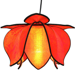 Hanging Baby Blooming Lotus Lamp, Citrus / 12' Swag Kit