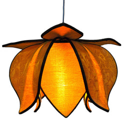 Hanging Baby Blooming Lotus Lamp, Gold / 12' Swag Kit