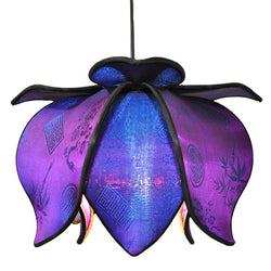 Hanging Baby Blooming Lotus Lamp, Jewel / 12' Swag Kit